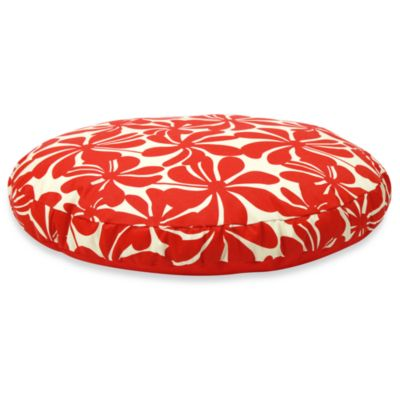Best Friends by Sheri SunStyle Circular XL Dog Bed in Twirly Red