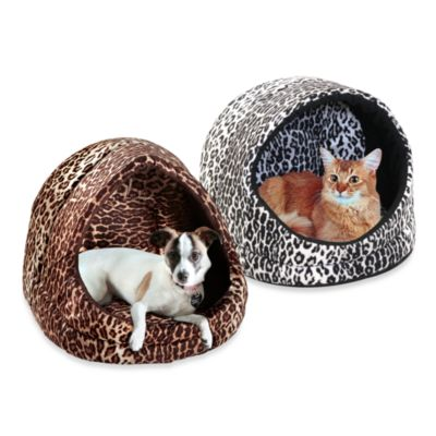 Best Friends by Sheri Small Leopard Pet Hut in Black