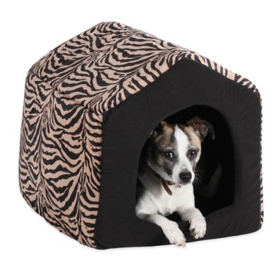 Best Friends by Sheri Medium Convertible Pet House in Baby Zebra Brown