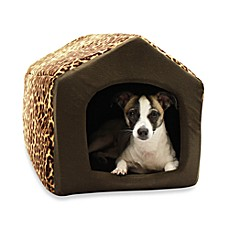 Best Friends by Sheri Convertible Pet Houses in Leopard Brown
