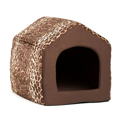 Best Friends by Sheri Large Convertible Pet House in Leopard Brown