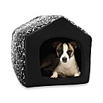 Best Friends by Sheri Medium Convertible Pet House in Leopard Black