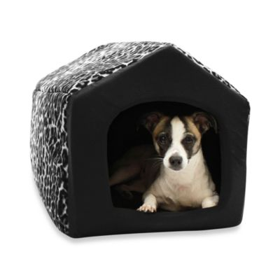 Best Friends by Sheri Large Pet House in Black Leopard