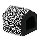 Best Friends by Sheri Large Convertible Pet House in Baby Zebra Black