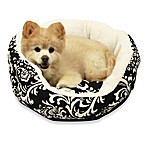 Best Friends by Sheri Duchess Cuddler Medium Pet Bed in Amsterdam Black