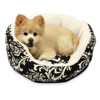 Best Friends by Sheri Duchess Cuddler Amsterdam 24-Inch Diameter Pet Bed in Black