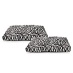 Best Friends by Sheri Standard Pet Beds in Zebra Black