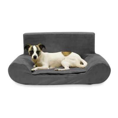 Best Friends by Sheri Small Bolster Sofa in Charcoal