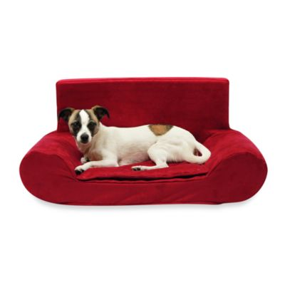Best Friends by Sheri Small Bolster Sofa in Lipstick Red