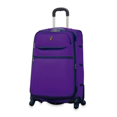 Traveler's Club 28-Inch Expandable Purple 4-Wheel Carry-On