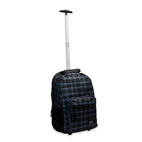 Sumdex®  Newport Trolley Backpack for 15.6-Inch Notebooks in Blue Plaid