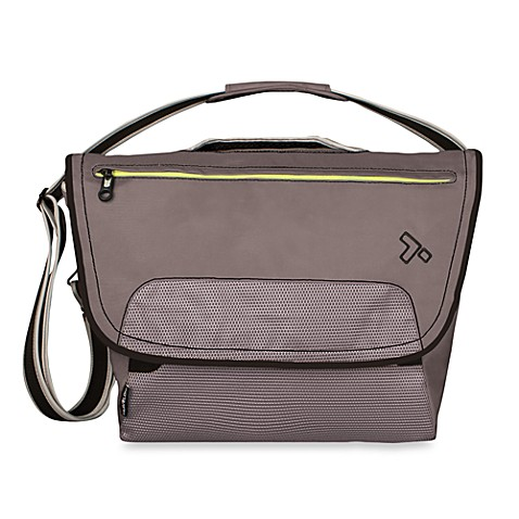 Travelon Anti-Theft React Large Messenger Bag for iPad/Tablet in Slate