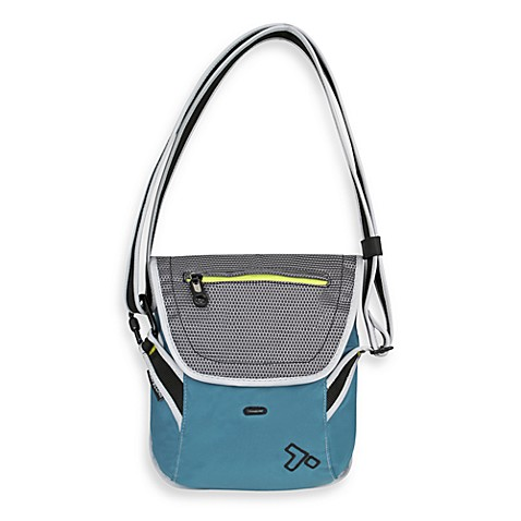 Travelon Anti-Theft React Teal Crossbody Messenger Bag for E-reader