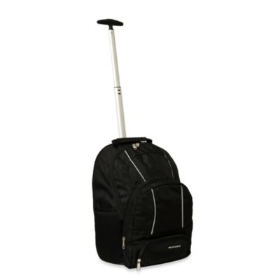 Sumdex® Palo Alto 15.6-Inch Black Trolley Backpack