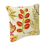 18-Inch Square Outdoor Toss Pillow in Fishbowl Seaweed