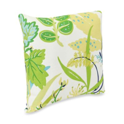 Square Outdoor Throw Pillow in Fishbowl