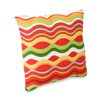 Square Outdoor Throw Pillow in Variations Beachside