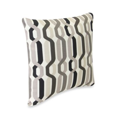 18-Inch Square Outdoor Toss Pillow in Twist Caviar