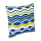 18-inch Square Outdoor Toss Pillow in Variations Poolside