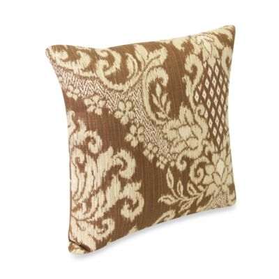 18-inch Square Outdoor Toss Pillow in Bedazzle Chestnut