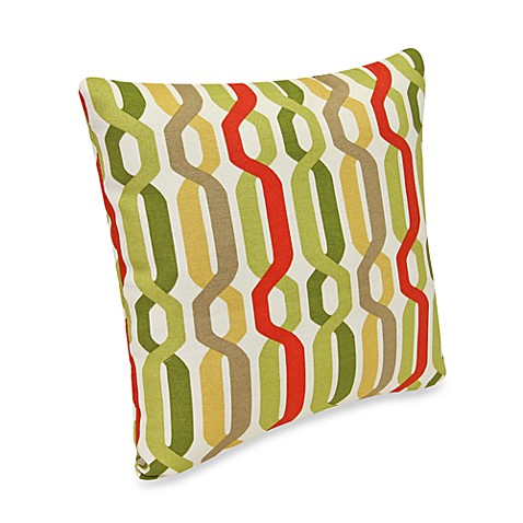 Square Outdoor Throw Pillow in Twist Seaweed