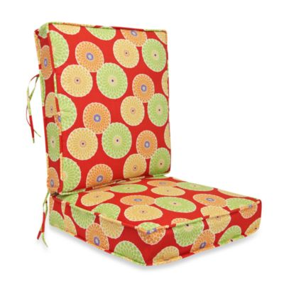 2-Piece Deep Seating Cushion in Springdale Poolside Red
