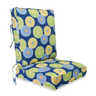 Outdoor 2-Piece Deep Seating Cushion in Springdale Poolside