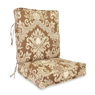 Outdoor 2-Piece Deep Seating Cushion in Bedazzle Chestnut