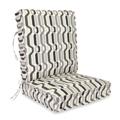 Outdoor 2-Piece Deep Seating Cushion in Twist Caviar