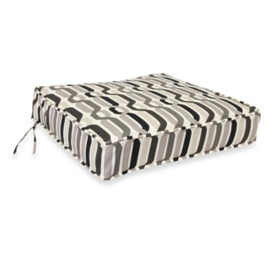 Twist Caviar Grey Deep Seating Cushion