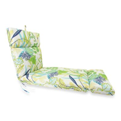Outdoor Chaise Cushion in Fishbowl