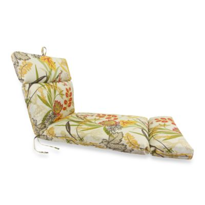 Outdoor Chaise Cushion in Fishbowl Seaweed