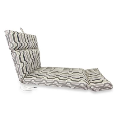 Outdoor Chaise Cushion in Twist Caviar