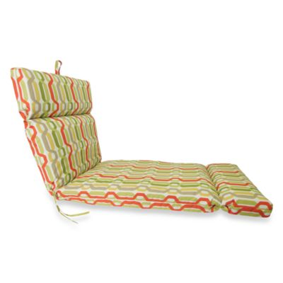 Chaise Cushion in Twist Seaweed