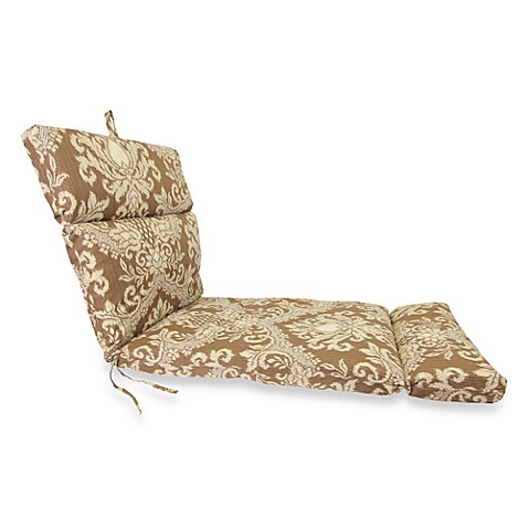 Outdoor Chaise Cushion in Bedazzle Chestnut