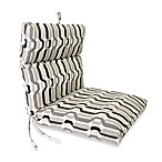 Outdoor Chair Cushion in Twist Caviar