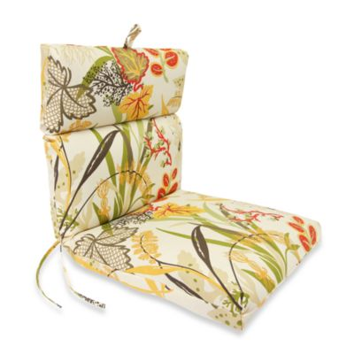 Outdoor Chair Cushion in Fishbowl Seaweed