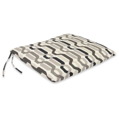 Outdoor Seat Pad Cushion in Twist Caviar