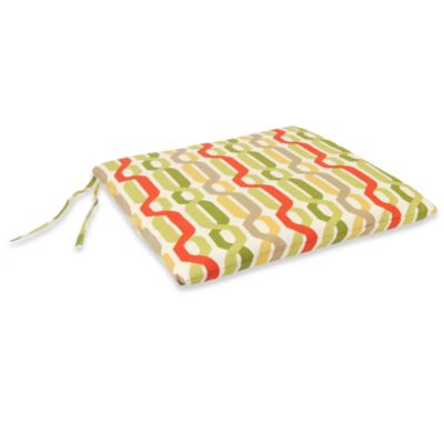 Seat Pad Cushion in Twist Seaweed