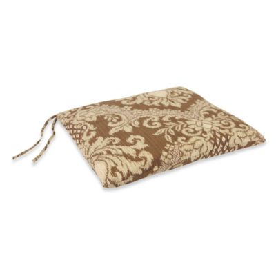 Outdoor Seat Pad Cushion in Bedazzle Chestnut