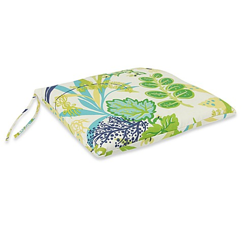 Outdoor Seat Pad Cushion in Fishbowl