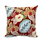 Outdoor 20-Inch Welt Cord Pillow in Floral