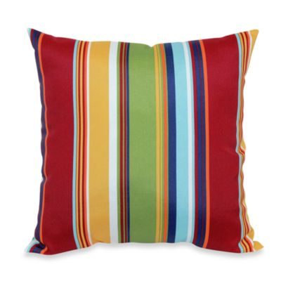 20-Inch Square Toss Pillow in Bright Stripe