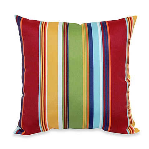 20-Inch Square Throw Pillow in Bright Stripe