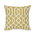Outdoor 20-Inch Welt Cord Pillow in Yellow Trellis