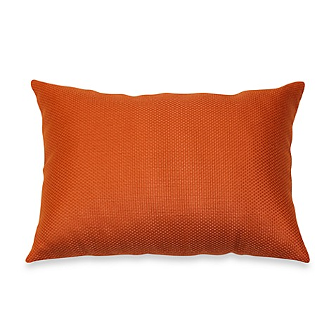 Outdoor Rectangle Knife Edge Pillow in Orange