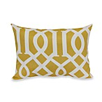 12-Inch x 16-Inch Rectangular Toss Pillow in Yellow Trellis