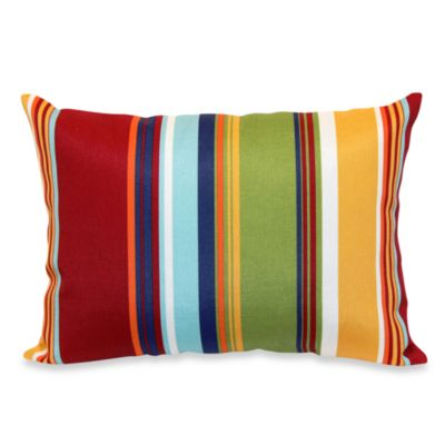 12-Inch x 16-Inch Rectangular Toss Pillow in Bright Stripe