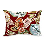 Outdoor Rectangle Knife Edge Pillow in Floral