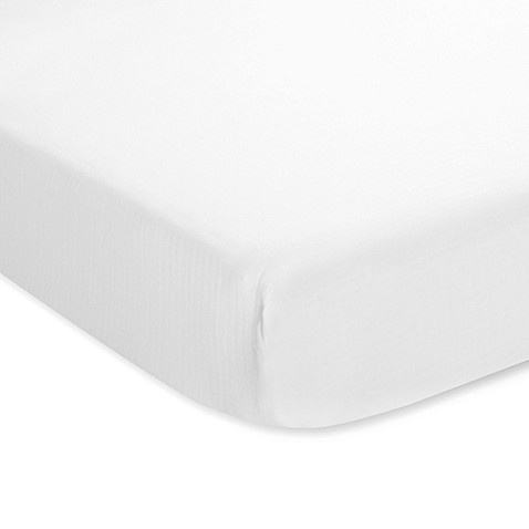 aden® by aden + anais® Muslin Classic Crib Sheet in White